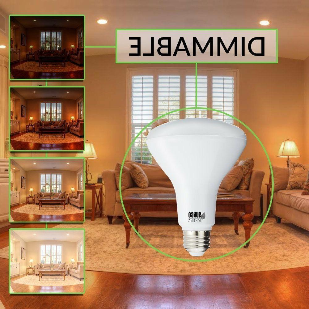 Sunco 8pk BR30 LED 2700K White Indoor Light Bulb