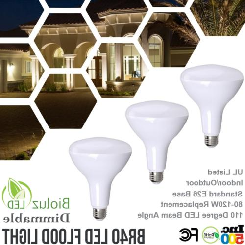 Bioluz LED Bulbs, 120W Replacement Dimmable Flood