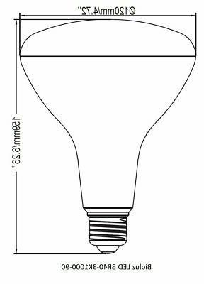 Bioluz LED BR40 Bulbs, 80W, 100W 120W Light