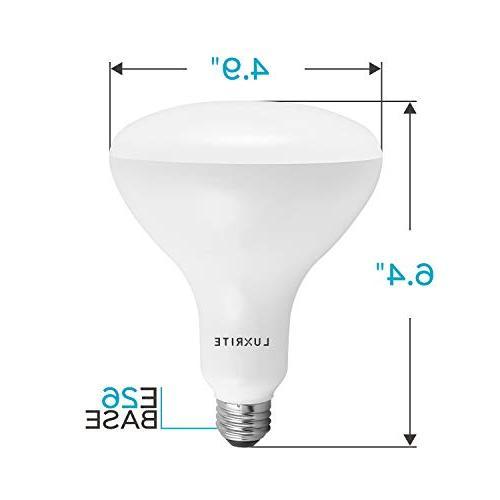Luxrite BR40 LED Natural Lumen, LED Bulb, E26 Base, for Office Recessed Lighting