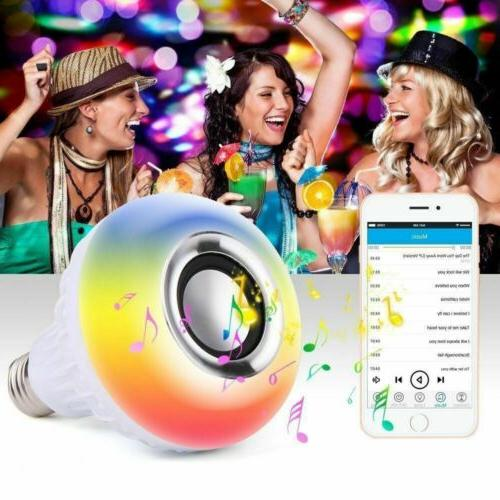 Bulb Speaker LED Light Music RGB Color Wireless Lamp