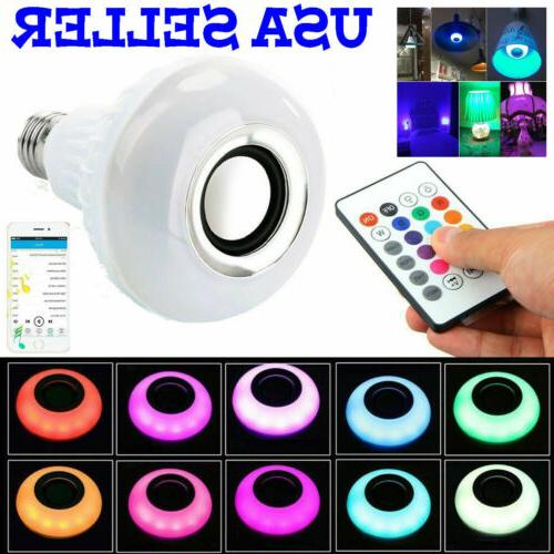bulb speaker bluetooth led light music rgb