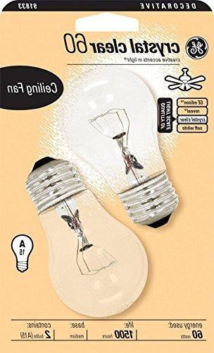 Ge Ceiling Fan Bulb 60 W Med In. Clear /