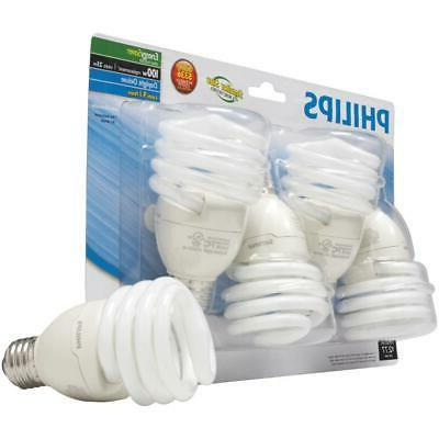 CFL Bulbs 100W Equivalent Energy Saving Lamps Pack