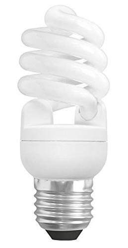 Sylvania T2 Spiral Light Bulb, 60W Equivalent, Soft Non-Dimmable