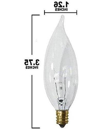 Sterl (Pack 12 Flame Shaped Light Bulb, Candelabra