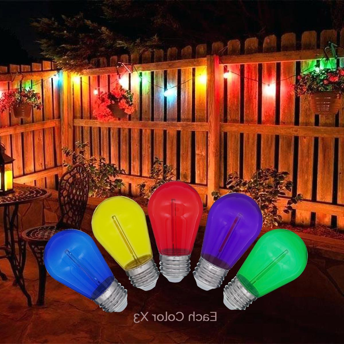 Colored LED Bulbs Bulbs String 15pack