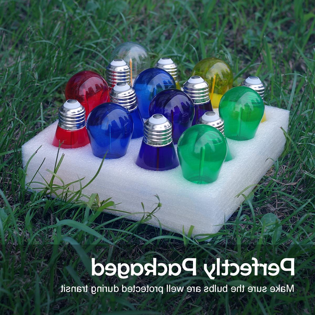 Colored LED Light Bulbs Replacement String Lights 1W