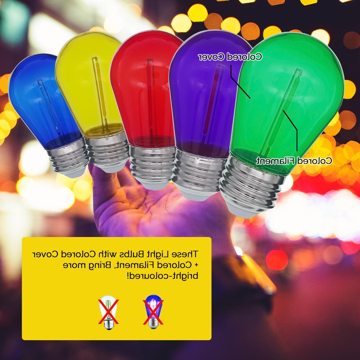 Colored Bulbs String Lights 1W
