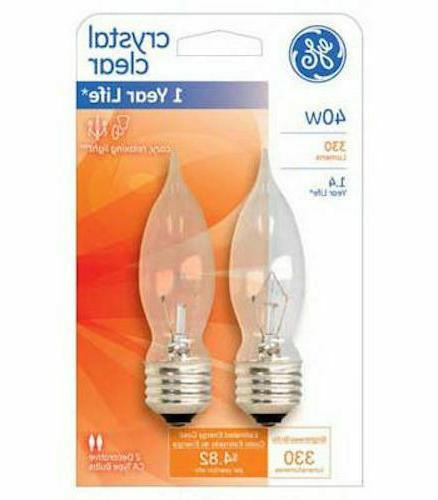 Ge Decorative Bent Tip Light Bulb 40 W 330 Lumens Med Base 4