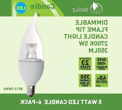 Bioluz Dimmable 40 Watt Bulbs, Tip LED