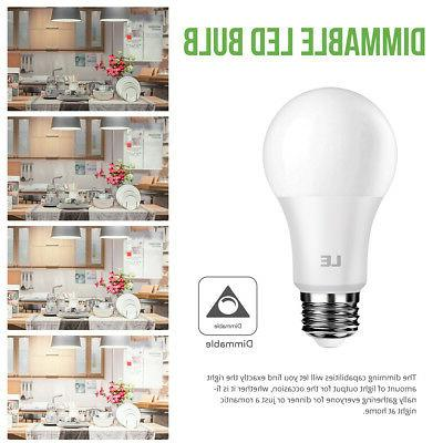 Dimmable 8.5W Light Bulbs 60W 800 5000K Lamp Pack