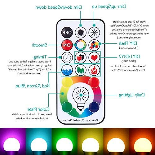 SUNNEST E26 Light Bulb Colors LED Bulb, 10W Color Changing Light Control, Memory&Timing, for Home, Stage, Party and