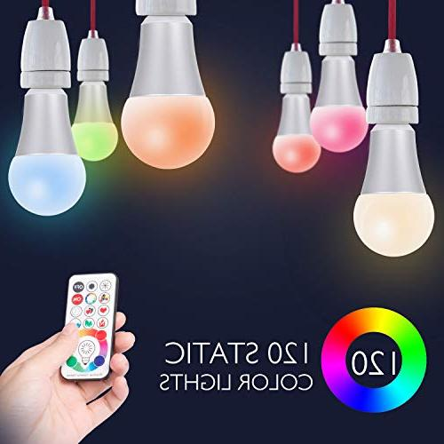 SUNNEST Light Bulb Colors LED Bulb, 10W Light Bulb Remote Control, Decorative Light for Home, Stage, Party and