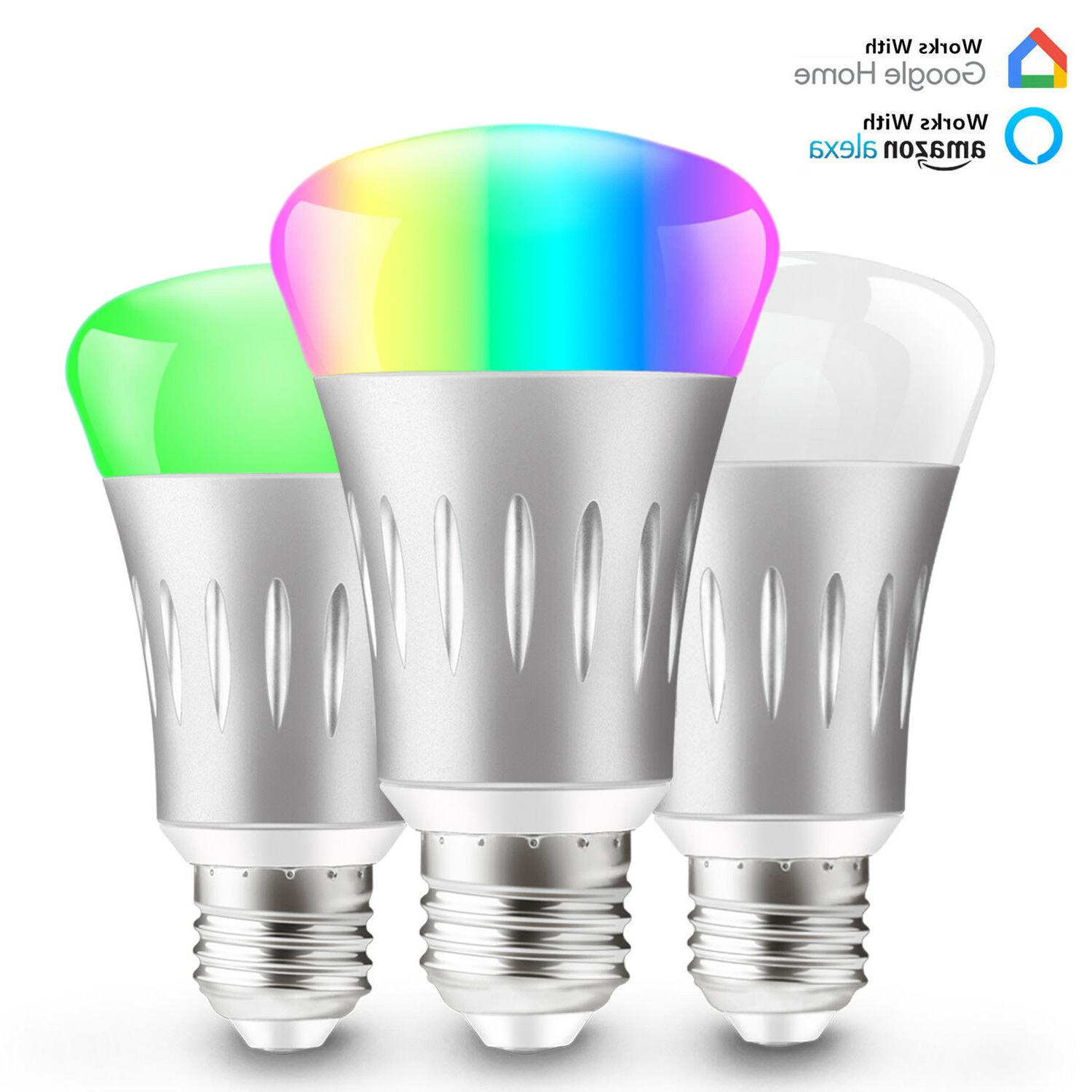 dimmable e27 rgb led wifi smart bulb