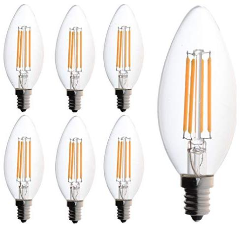 60 watt Candelabra Bulbs, Bioluz LED Candelabra Bulbs, Dimma