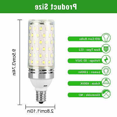E12 LED 15W Light 6000K