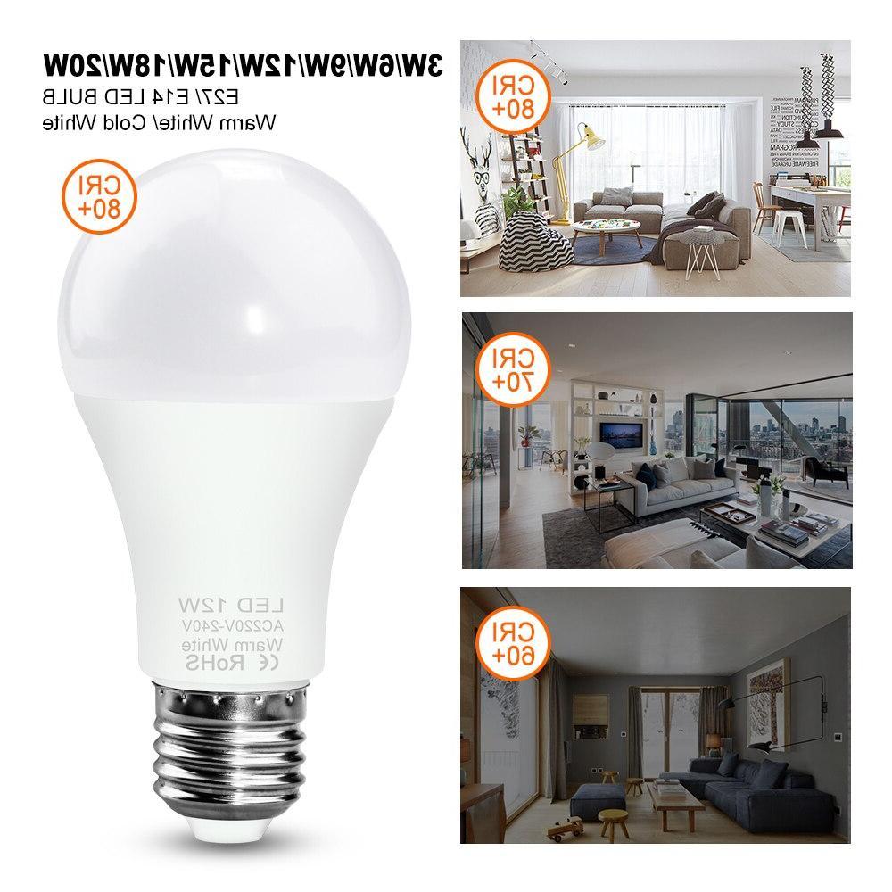 WENNI E14 3W 12W 15W LED Lamp Lampada 220V <font><b>Light</b></font> SMD2835 Ampoule Lighting