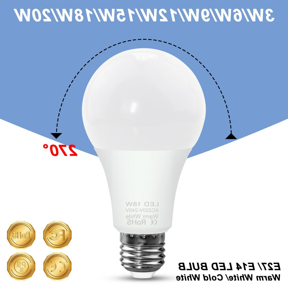 WENNI LED 3W 6W 9W 12W 15W <font><b>18W</b></font> 20W Lamp 230V 220V SMD2835 Lighting