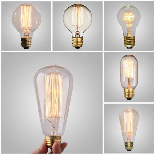 e26 40w 60w filament light bulb 110v