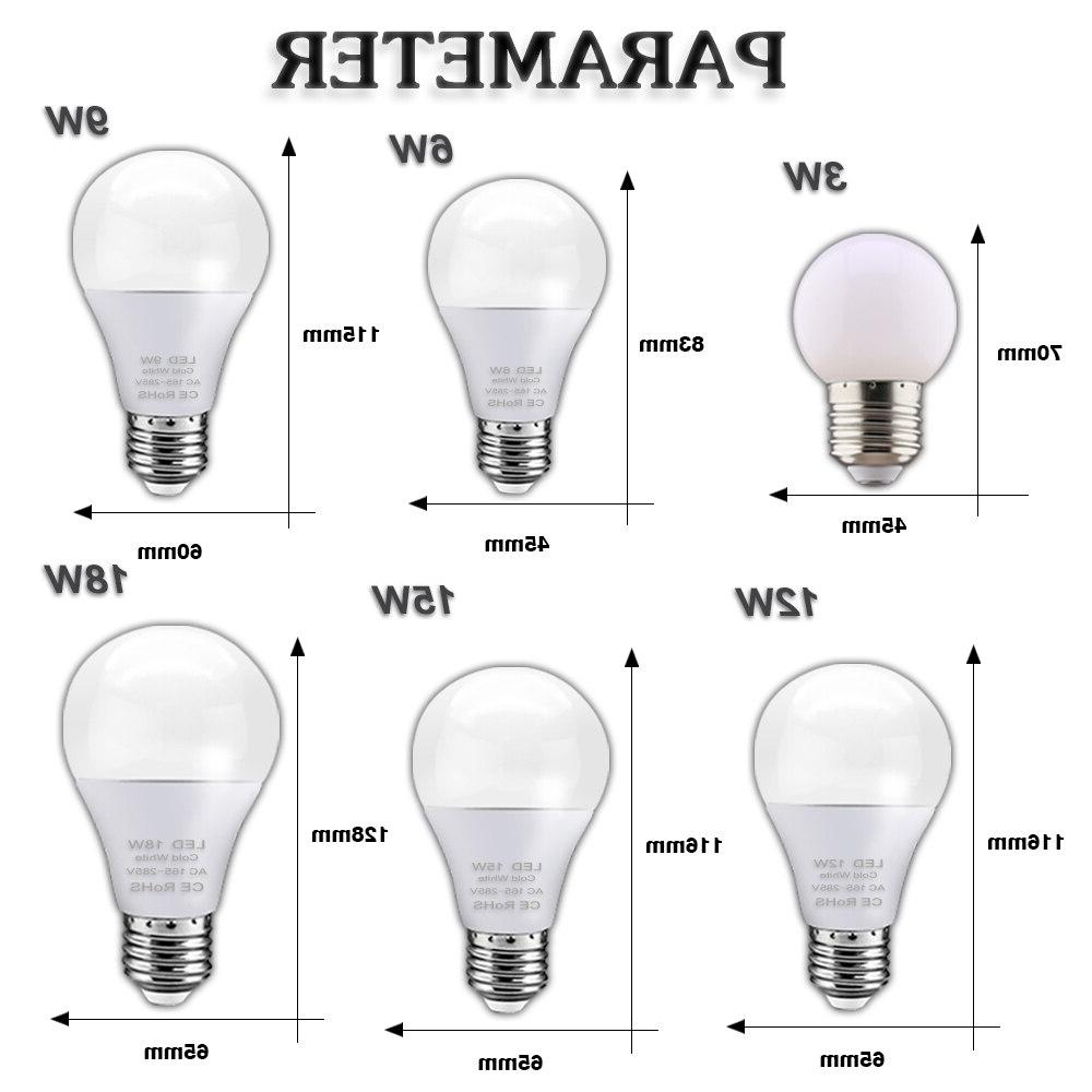 <font><b>18W</b></font> 6W 3W Lampada Ampoule Saving Energy