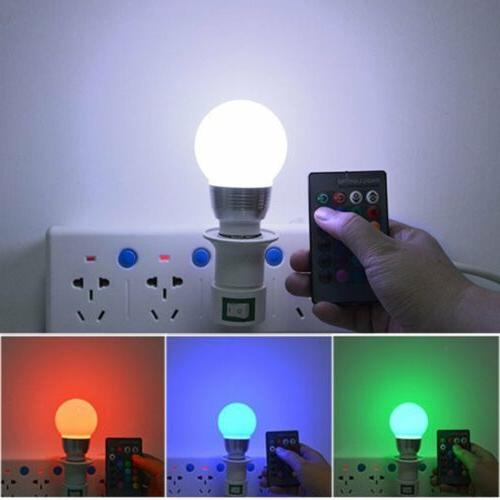 E27 RGB 3W Magic Light IR Control