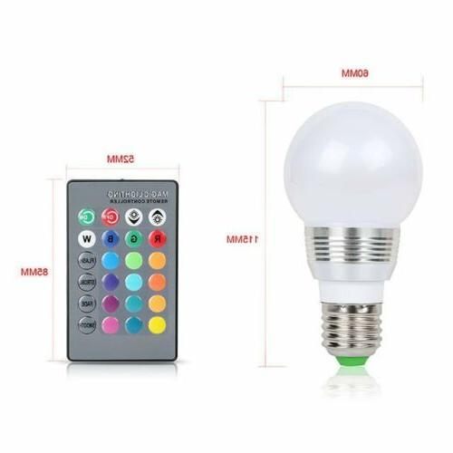 E27 Lamp 3W Magic Night Light Bulb IR Remote Control