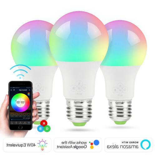 e27 wifi smart led light bulb