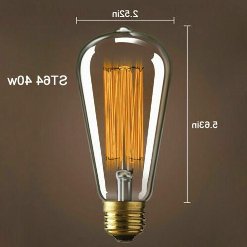 Edison Bulb Lamp ST64 Vintage 60W 110V