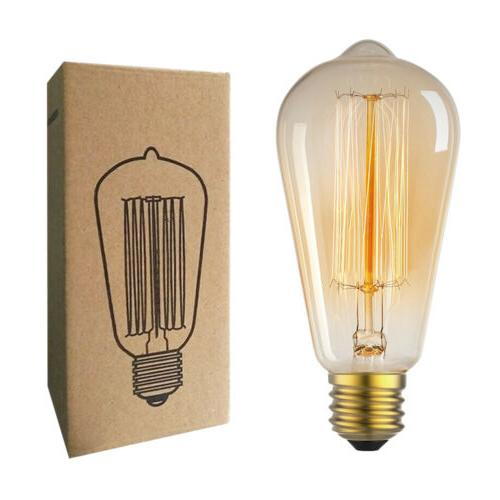 edison bulb e26 retro lamp st64 vintage