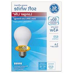 Energy-Efficient Halogen Bulb, A19, 43 W, Soft White