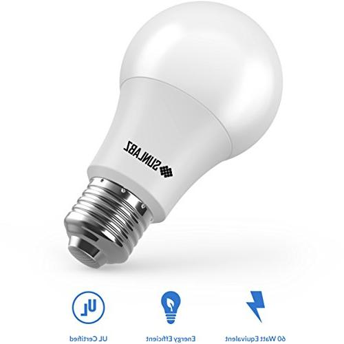 SunLabz Bulbs 60-Watt Equivalent, E26 Non-Dimmable,