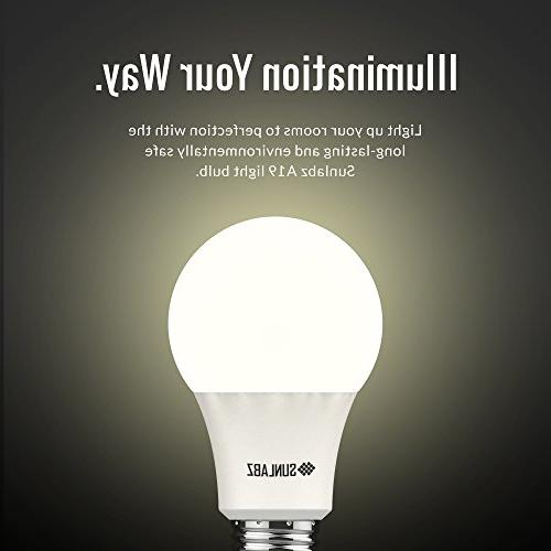 SunLabz Energy-Saving Light Bulbs - A19, 60-Watt Equivalent, E26 Socket, Non-Dimmable,