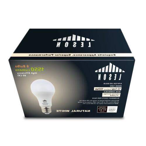 LESON 100W Light 120V A19 1550lm Natural White