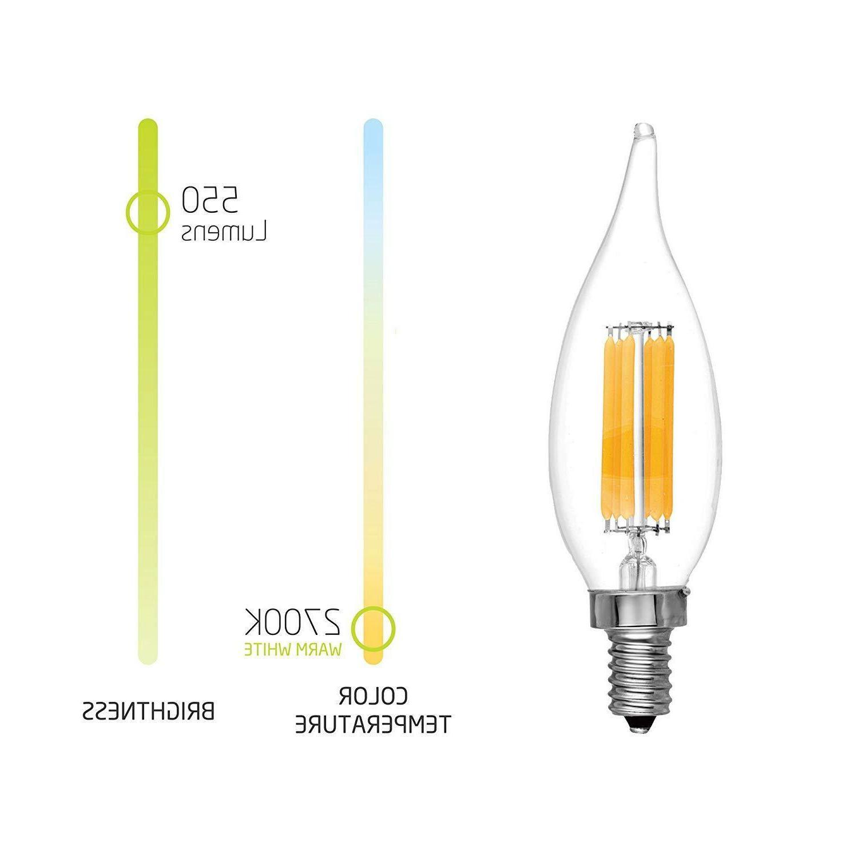Filament LED 60W Candelabra Base Bulb