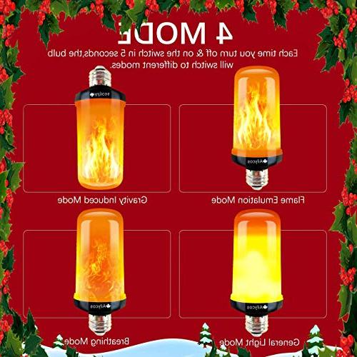 Ailycos Flame Fire Light - Upgraded E26 Base Modes Effect Decorative Atmosphere Lighting for Christmas