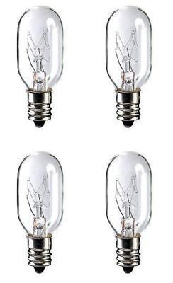 Four Bulbs 25T8C Clear 25 Watt 120 Volt 25T8 Candelabra Base