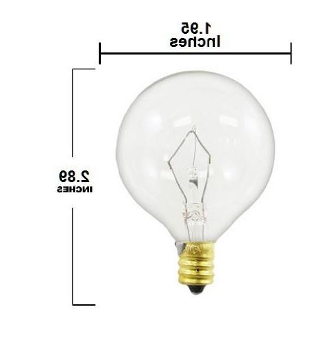 60-watt Globe E12 Bulbs, Crystal