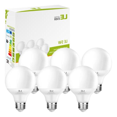 6 Pack 5W G25 E26 LED Bulbs 40W Incandescent Bulb Equivalent