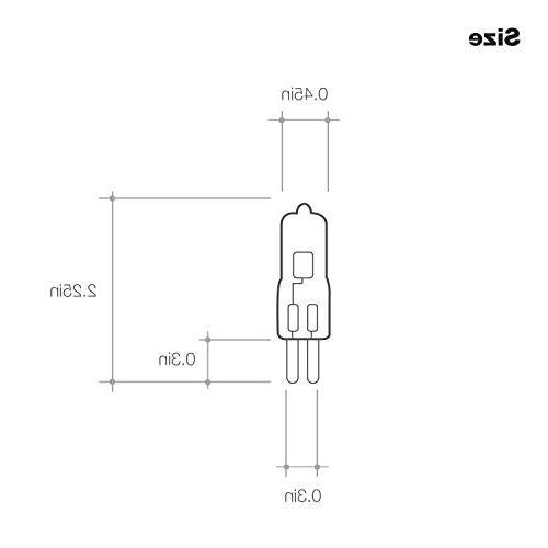 100 Halogen G8 Bi-Pin Base, Light Bulb Volts, G8-120V-100W