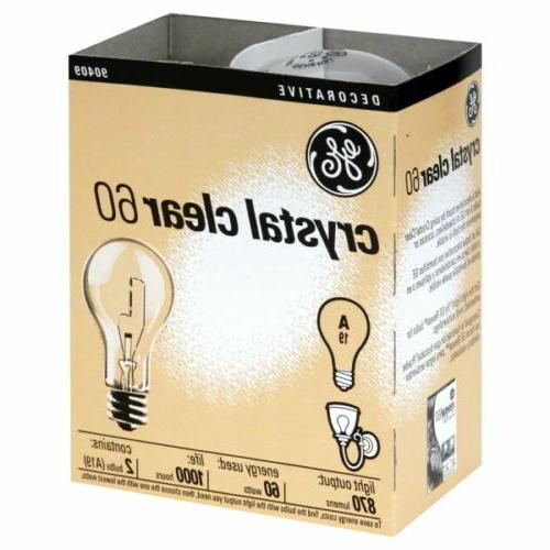GE 97490-24 Crystal Clear Bulbs, 60 Watts, 24-Pack
