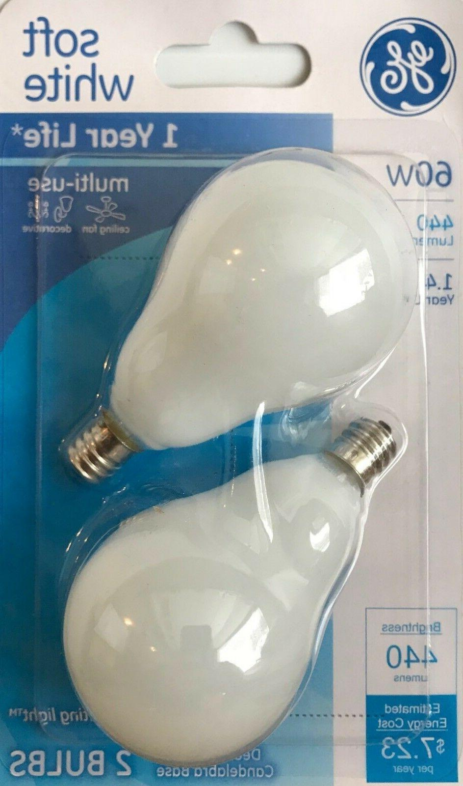 GE 2-Pack 60-Watt Soft White Decorative Incandescent Light B