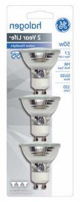 Ge Halogen Flood Light Bulb 50 W Mr16 Gu10 2750 K Carded