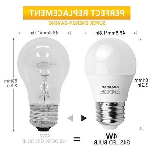 40 Watts, Watt Soft LED E26 Medium Screw Base A15/G45 Home Non-Dimmable