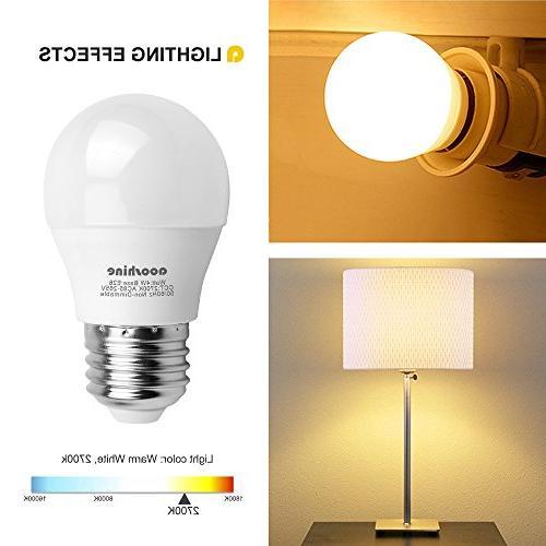 LED Globe Light 40 Watts, Watt LED Medium Screw A15/G45 Home