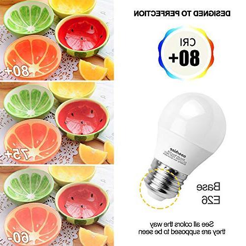 LED Globe Light 40 Watts, Aooshine Watt White 2700K LED E26 Screw Lumens A15/G45 Shape Home Non-Dimmable