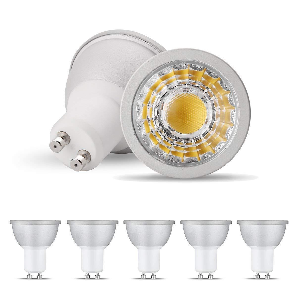 gu10 5w cob led nondimmable light bulbs