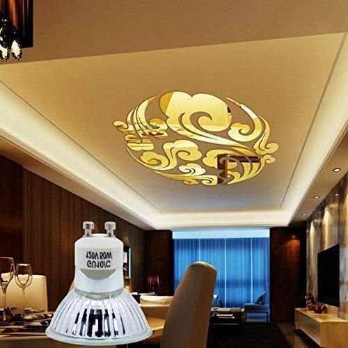 GU10 Light Bulb, MR16 Light Bulbs UV Glass Cover White, High Efficiency Flood Light for