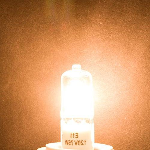 E11 560lm 120 Volt Bulb for Pendants, Table Mini-Candelabra 50W 110V 120V 130V White Dimmable