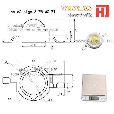 High Power 1W 3W 5W 20W 50W LED Chip Beads